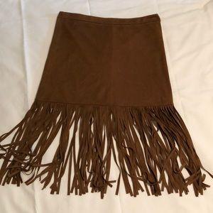 Fringe Skirt• Forever 21• Medium• Suede Strech